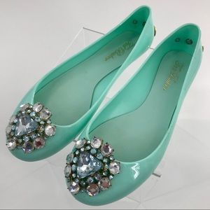 Ted Baker Jemmee Embellished Flat Jelly Shoes sz 7